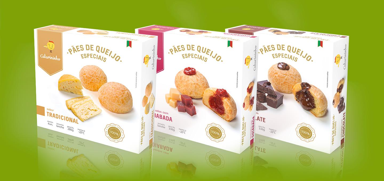 criação de embalagem para pão de queijo