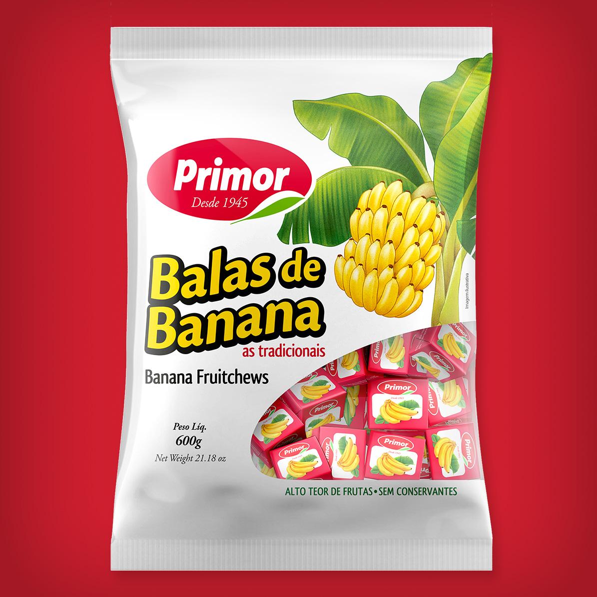 Criação de embalagens para balas de banana