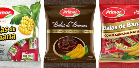 Embalagens balas de banana PRIMOR
