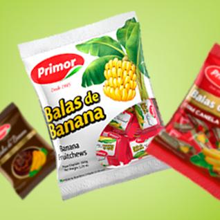 criação de embalagem para balas de banana