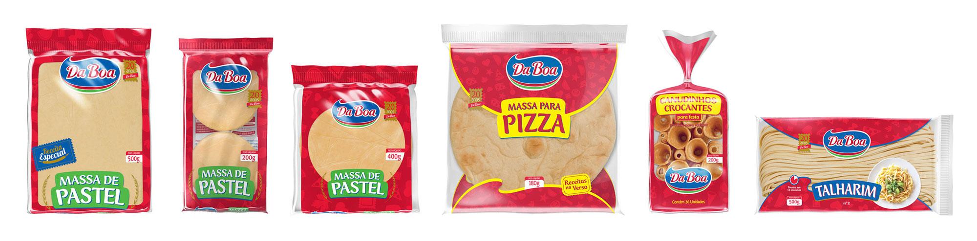 design de embalagens para massas de pastel e pizza