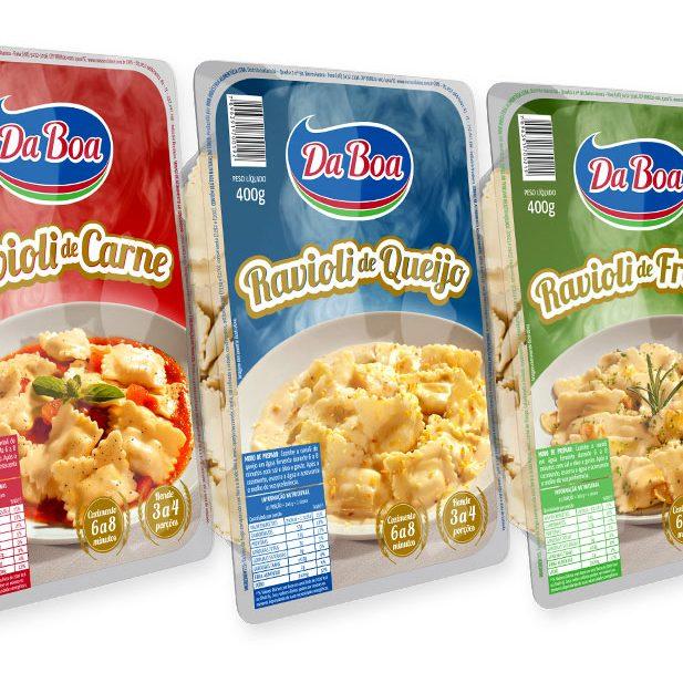 packaging design for pasta- ravioli, gnochi capeletti