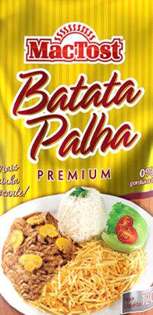 Design de embalagem Batata Palha Premium MAC TOST