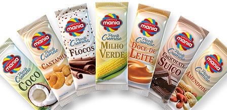 Design de embalagem Picolés cremosos SORVETES MANIA
