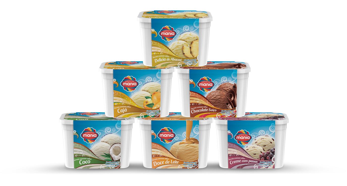 design de cintas de sorvete de 2litros
