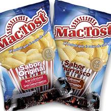 Design de embalagens para Batatas Onduladas MAC TOST