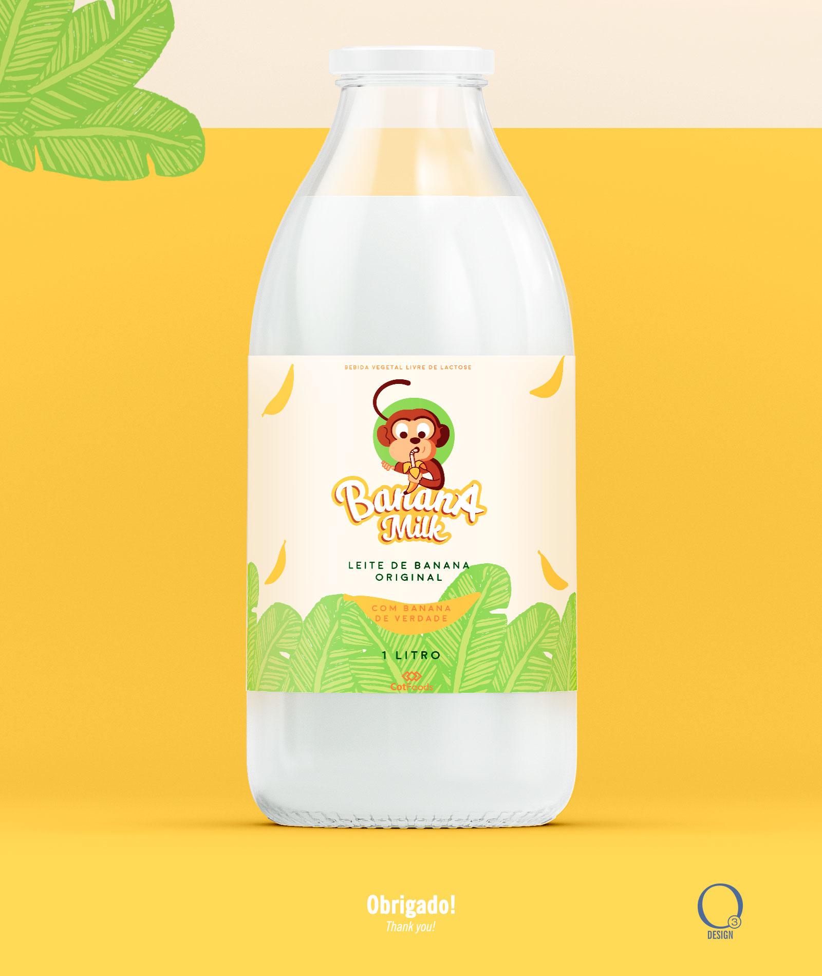 Rótulo para Leite de banana - Banana Milk