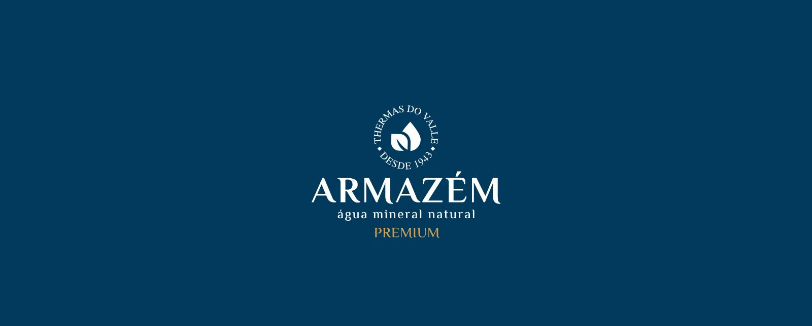 Design de rótulo e branding para água mineral premium