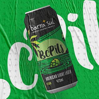 Design de lata de cerveja Pilsen