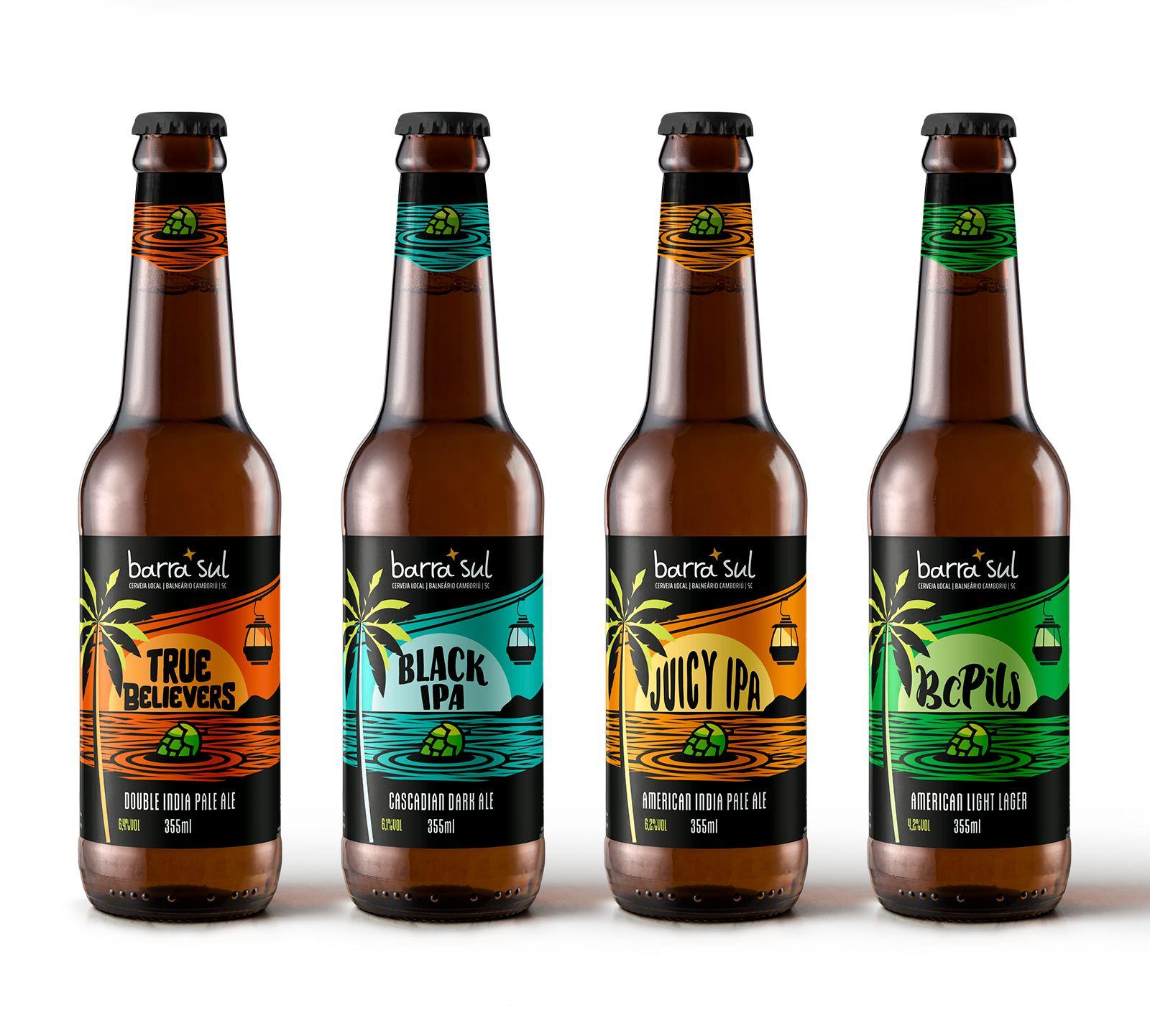 Design de rótulos de cerveja artesanal Barra Sul