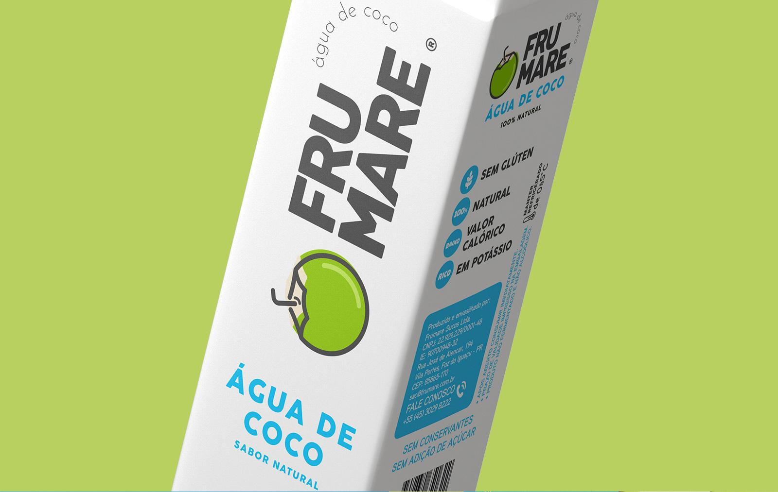 Design de embalagem para Água de Coco | O3 Design