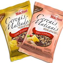Design de embalagem Cereais Matinais MAC TOST
