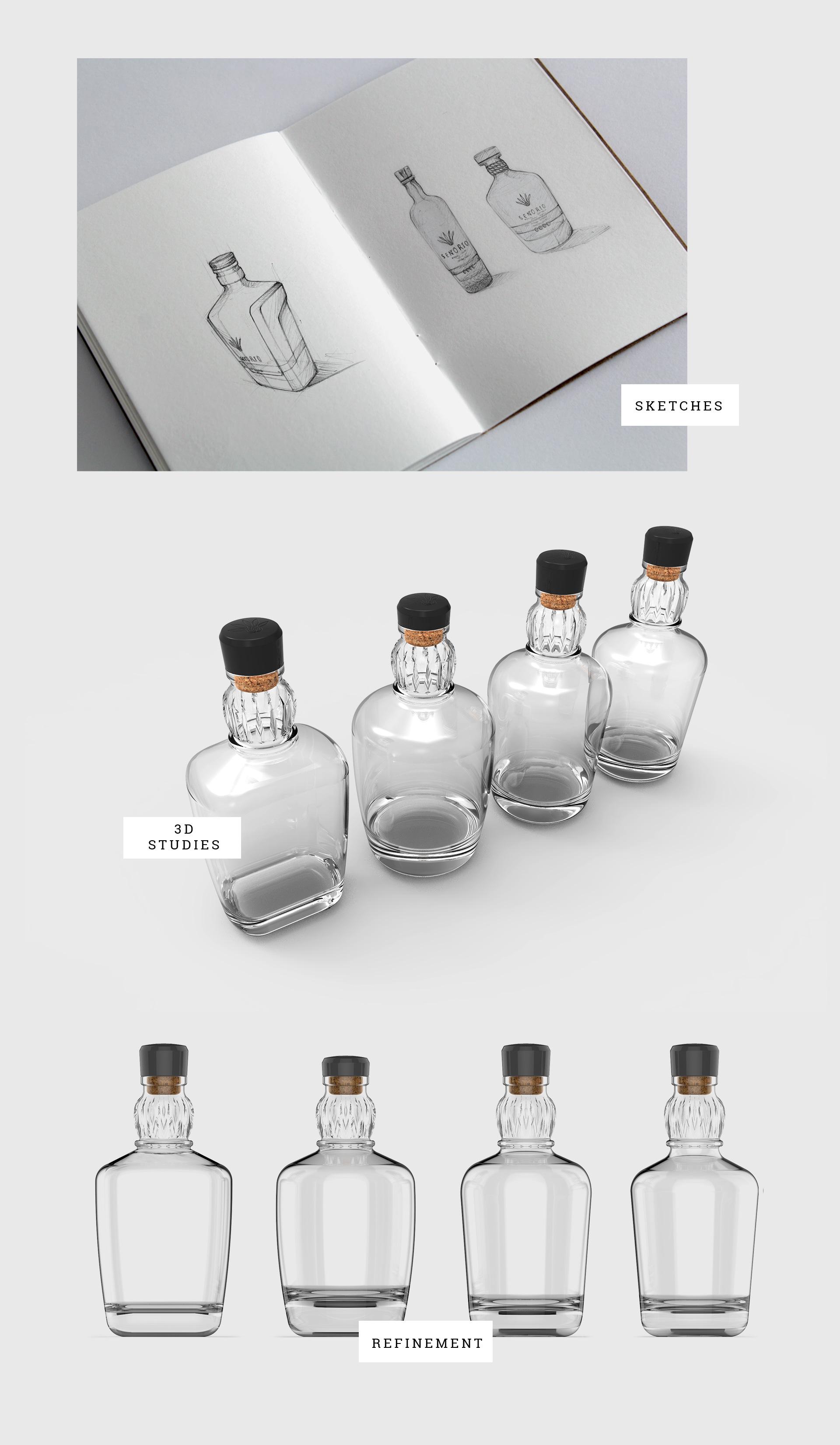 Design de garrafa para tequila