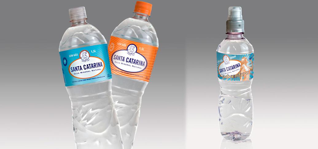 Santa Catarina água mineral embalagem pet