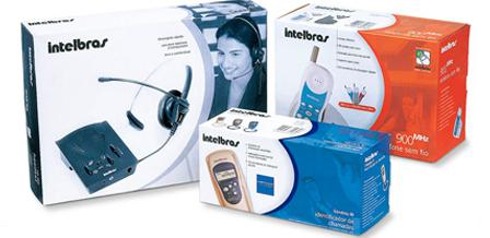 Design de embalagens para Telefones INTELBRAS