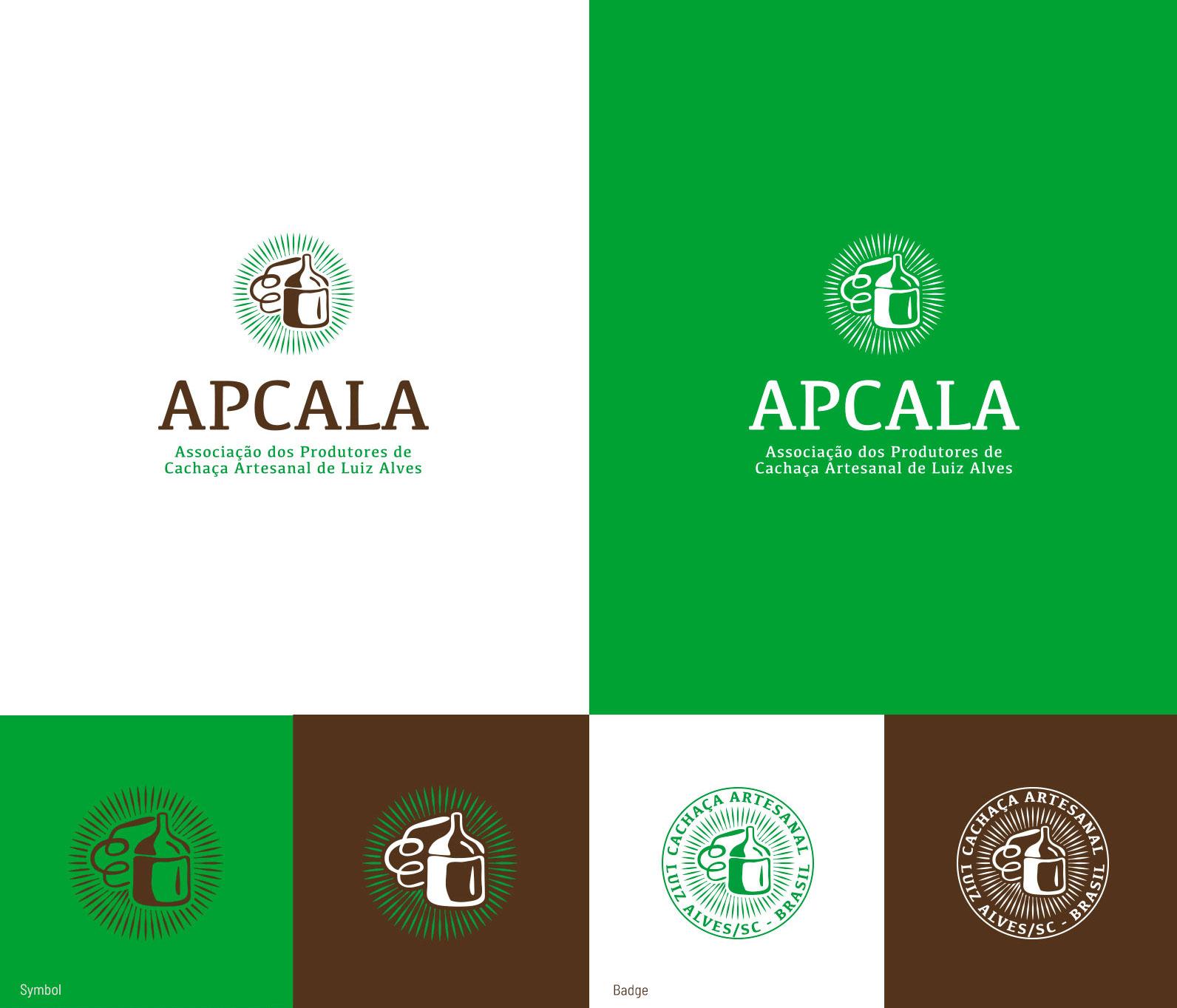 Variações do Logo da Associação de Produtores de Cachaça de Luis Alves