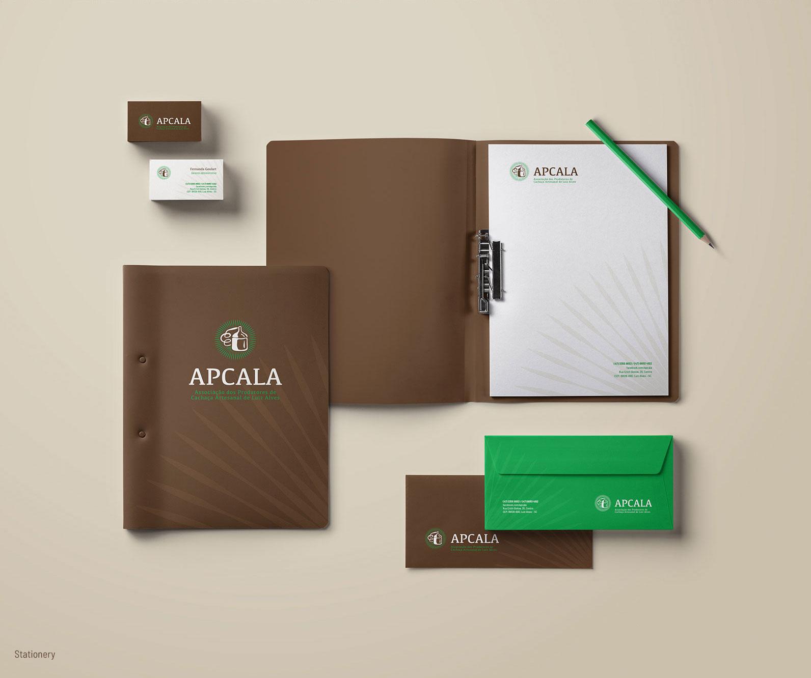 Material de papelaria para Associação de Produtores de Cachaça de Luis Alves
