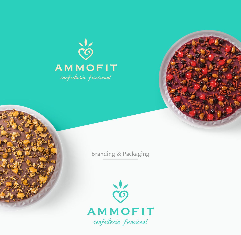 Branding Ammofit confeitaria funcional