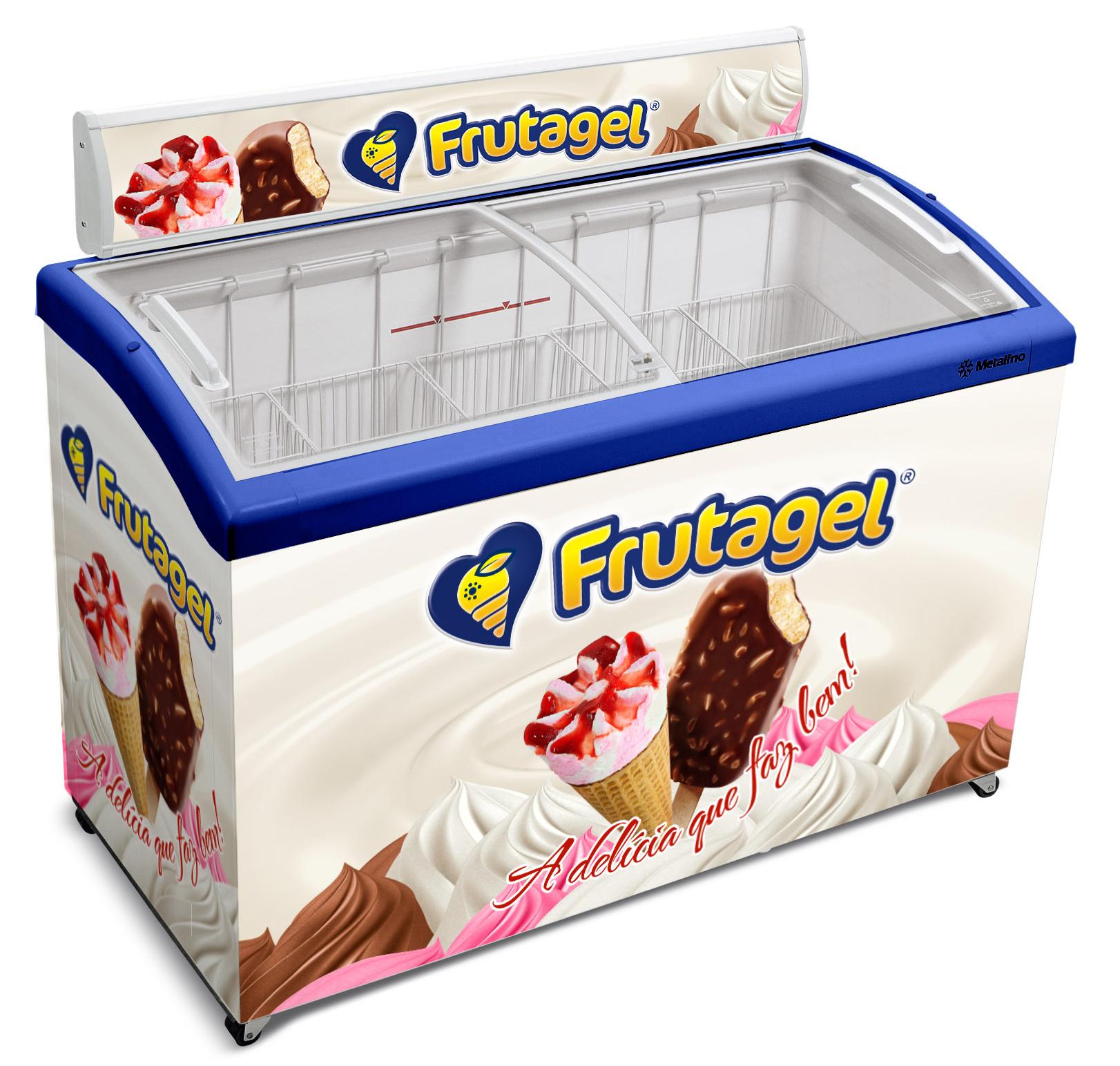 Branding para SORVETES FRUTAGEL - freezer