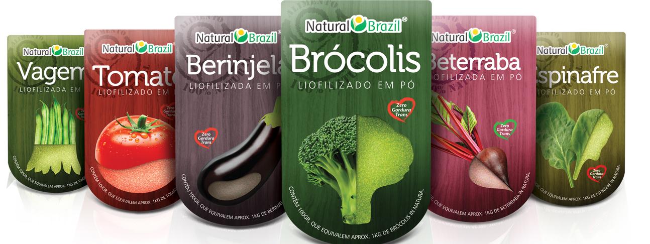 design de Embalagens para liofilizados NATURAL BRAZIL