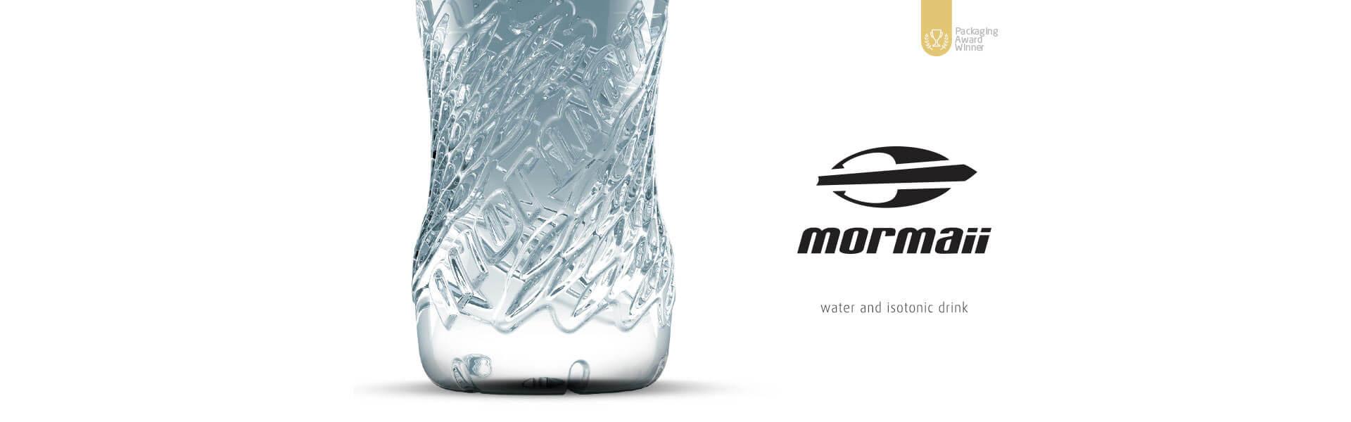design de garrafas para água mineral Mormaii